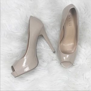 Guess Shoes Size 8.5 Heels Nude